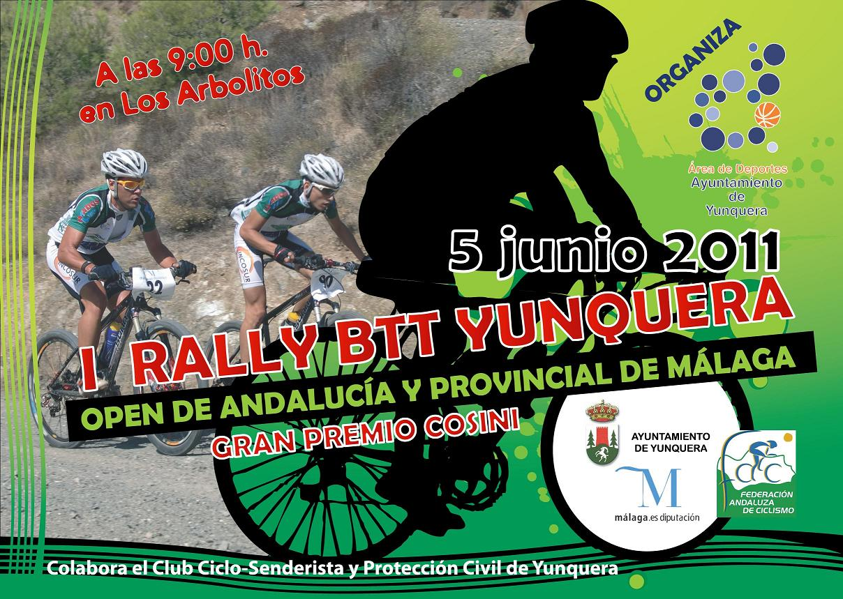 Cartel I Rally BTT Yunquera - Open de Andalucía y Campeonato Provincial de Málaga