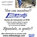 Cartel Rutas Iniciación MTBMálaga